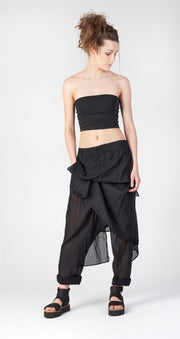 Sfumer layered drop crotch pants