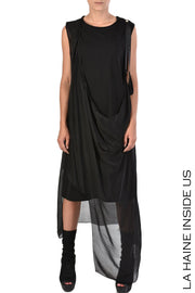 Innuga asymmetric draped dress