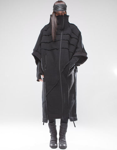 Black Shepherd oversized wool coat