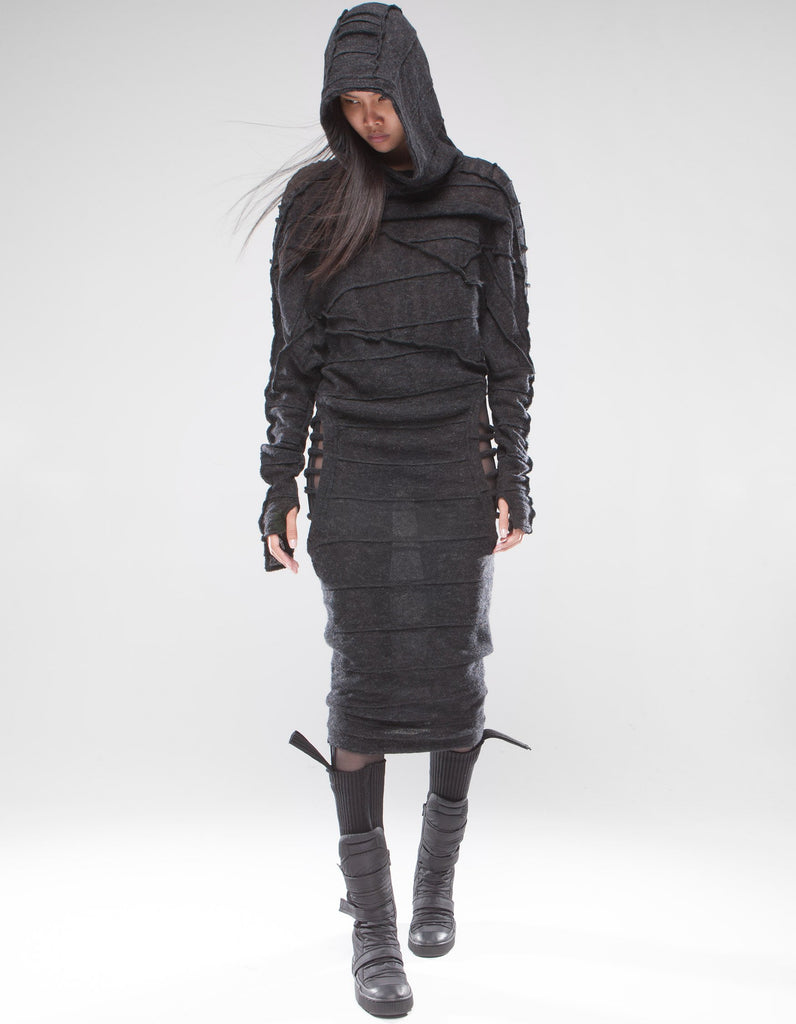 Digital Master cutout wool dress