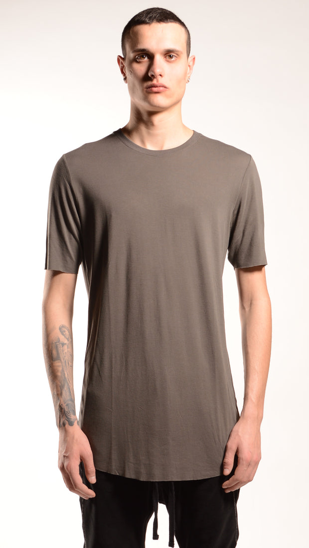 Fitted silk tee