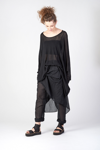 Fumos asymmetric oversized sweater