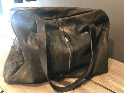 Matte leather weekend bag