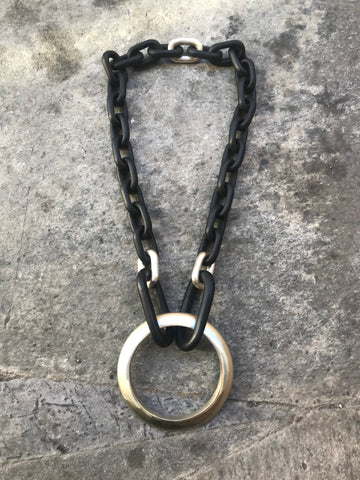 Organic chain with Portal necklace
