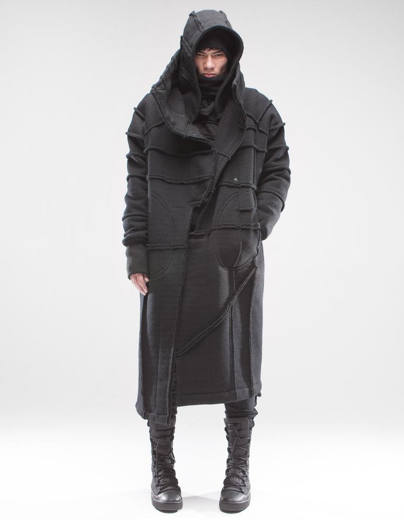 Black Shepherd wool overcoat