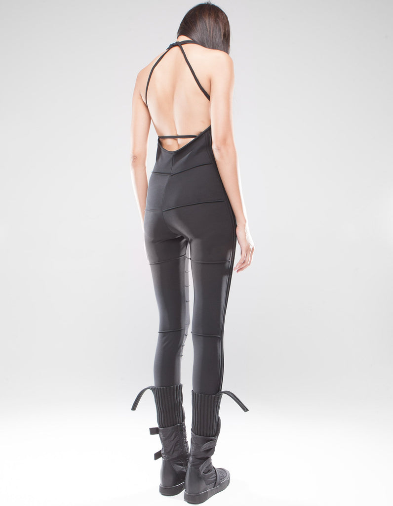 Polar halter neck bodysuit