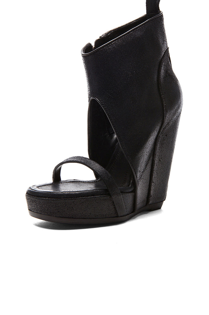 Rick Owens Leather Wedge Sandals original cheap price Grey outlet store online great deals cheap online find great cheap online get to buy cheap online Q5jmY