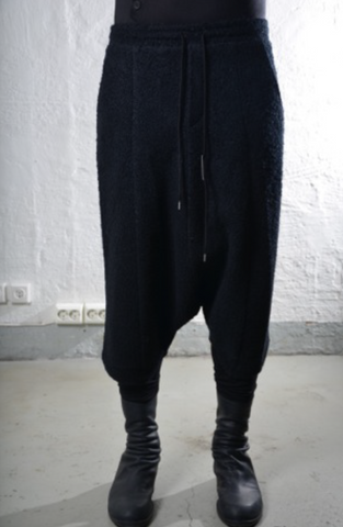 Heavy wool layered trousers