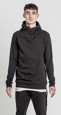Piped hooded sweater