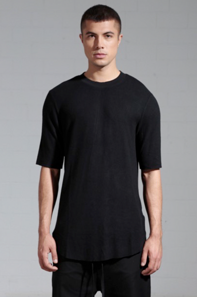 Soft back seam tee