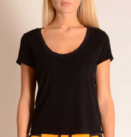 Bamboo frotté cropped tee