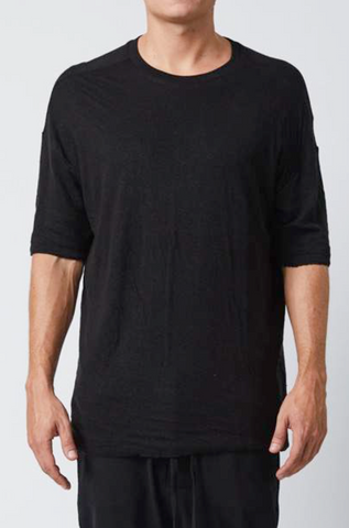 Double layered linen tee