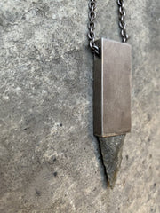 Arrowhead amulet cuboid necklace