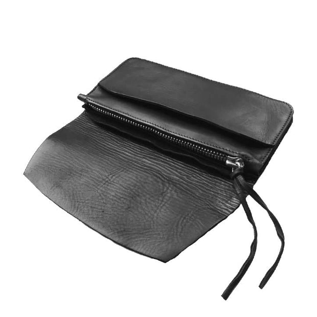 Envelope leather clutch