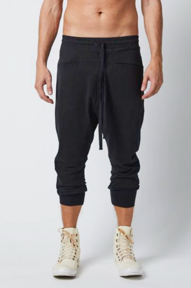 Drop crotch jersey trousers