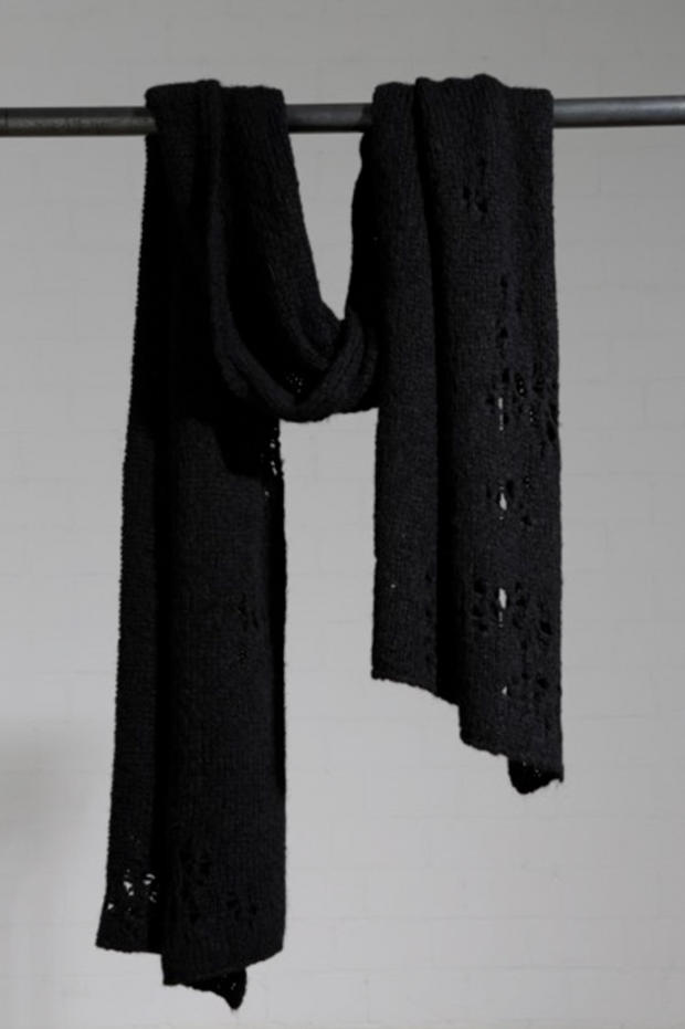Knitted wool scarf
