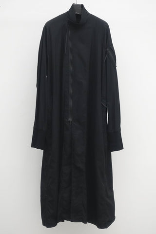 JULIUS Long zip coat