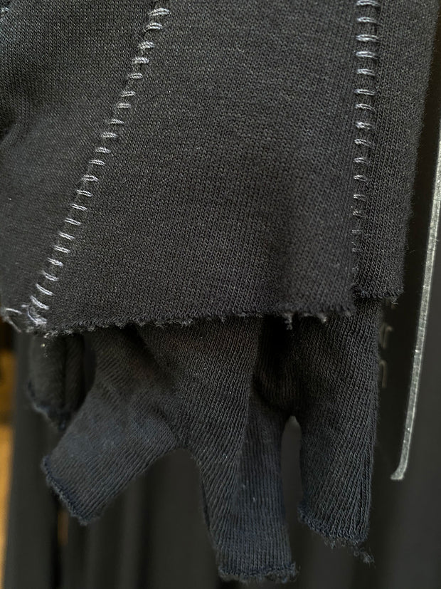 Double layered fingerless gloves