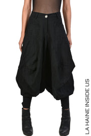 Siva drop crotch trousers