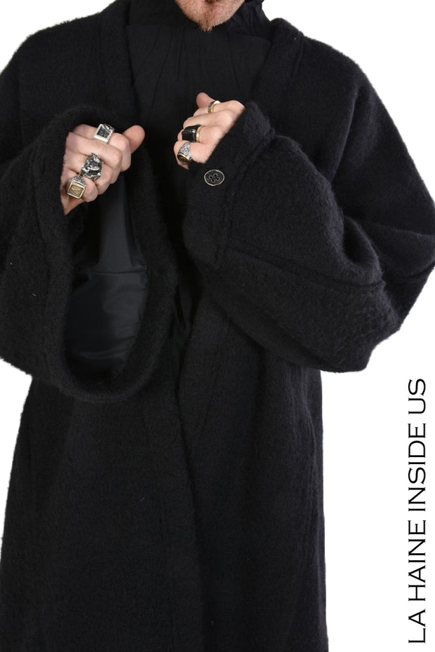 Supa asymmetric coat