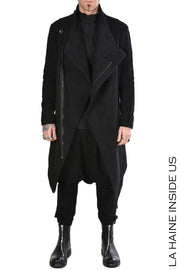 Rischio Asymmetric cardigan coat