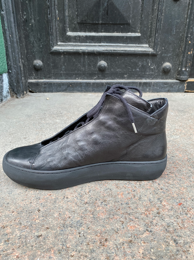 Renato re-waxed leather sneakers