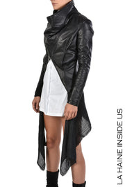 Trivia Asymmetric leather jacket