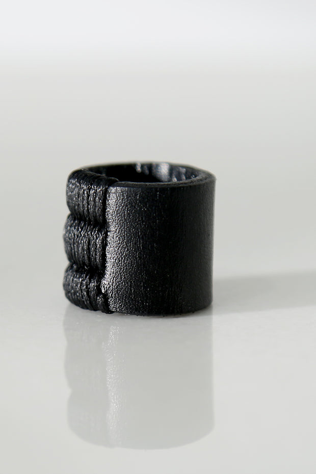 Seamed leather ring