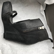 Rick Owens Distressed Leather Wedge Sandals
