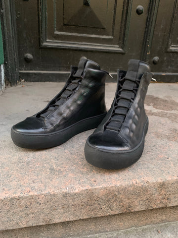 Ernaldo re-waxed leather sneakers