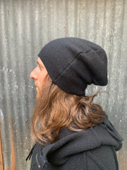 Distortion cashmere beanie