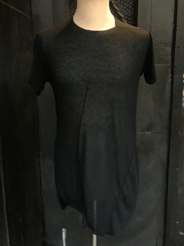 Distortion curved cashmere tee