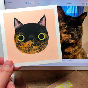 Custom Cat Face - Mini Painting