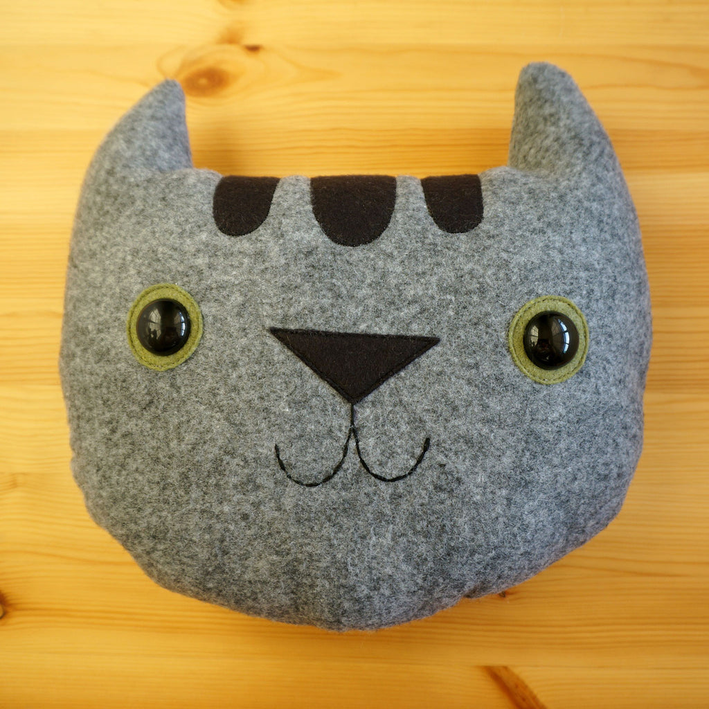 Abbie the Grey Tabby Cat Pillow