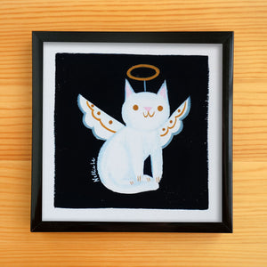 Angel Cat - Mini Painting