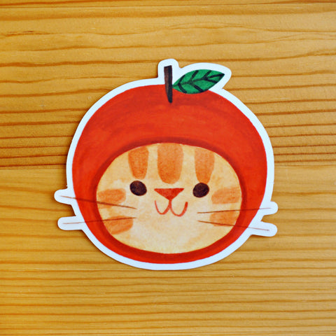 Apple Hat Sticker