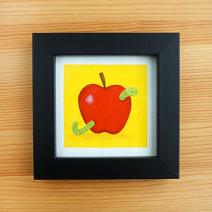 Apple & The Worm - Mini Painting