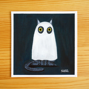 Bedsheet Ghost - Mini Painting