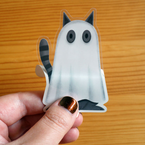 Bedsheet Ghost Cat Sticker