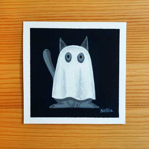 Bedsheet Ghost (Grey) - Mini Painting