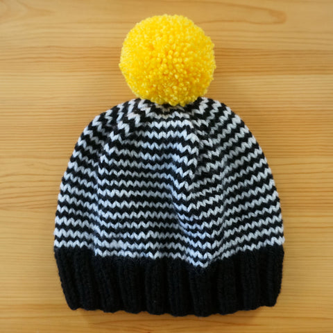 Stripe Hat - Black/Yellow