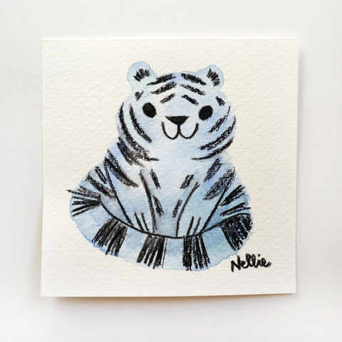 Blobby Ghost Tiger - Mini Painting