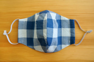 Blue Buffalo Check - Fitted Face Mask