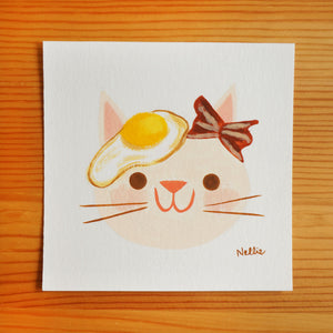 Breakfast Cat - Mini Painting