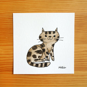 Brown Tabby - Mini Painting