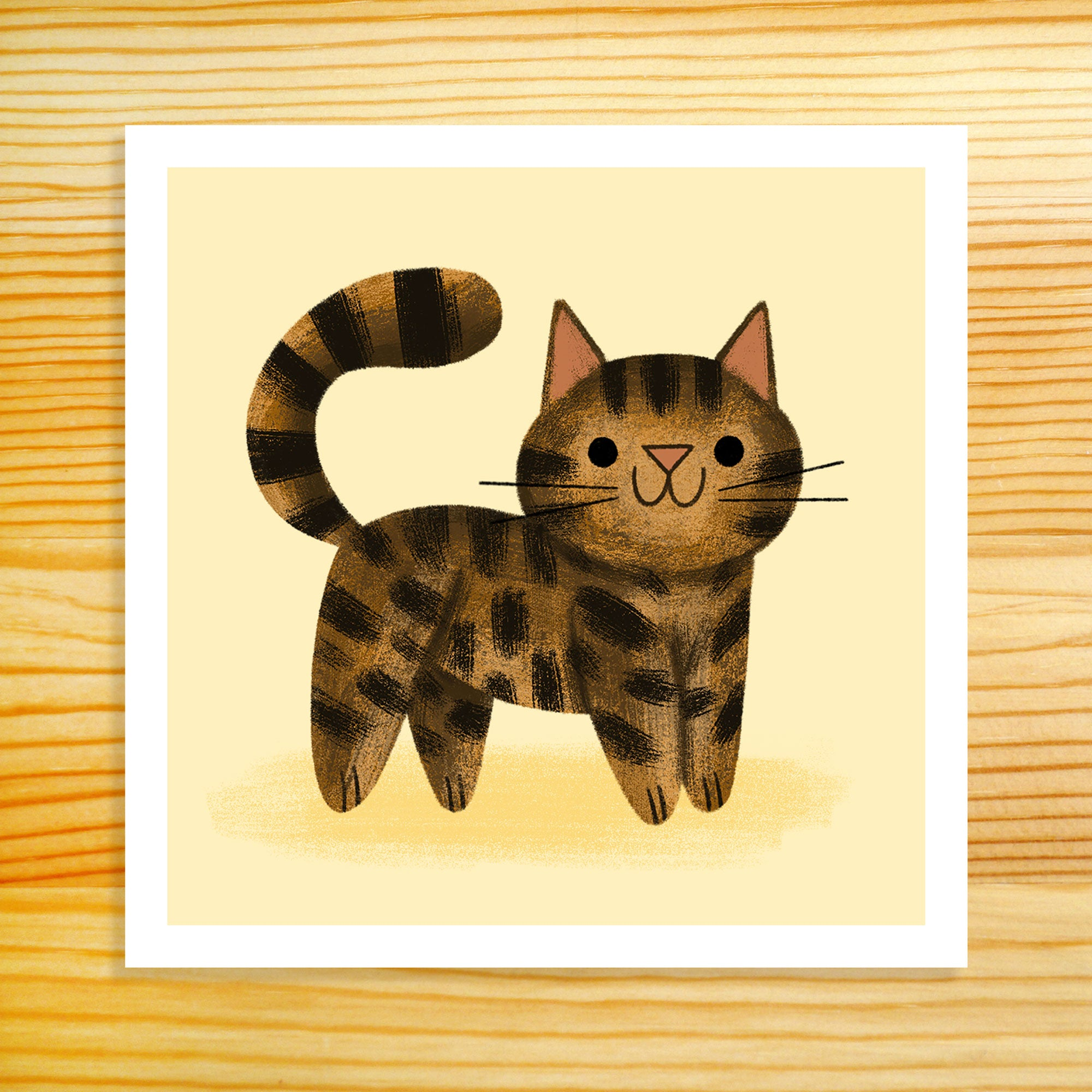 Brown Tabby Cat - 5x5 Print