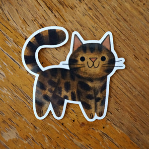 Brown Tabby Sticker