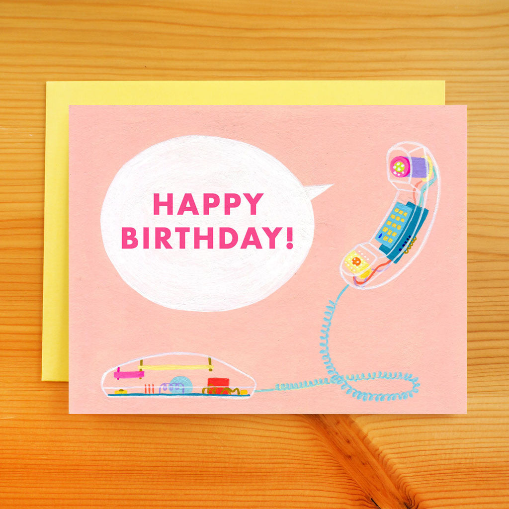 Birthday Phone Call Card