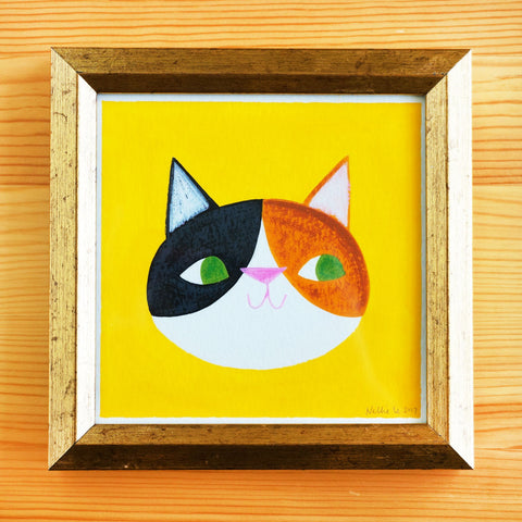 Calico Cat - 5x5 Painting