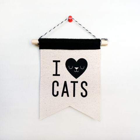 I LOVE CATS mini banner